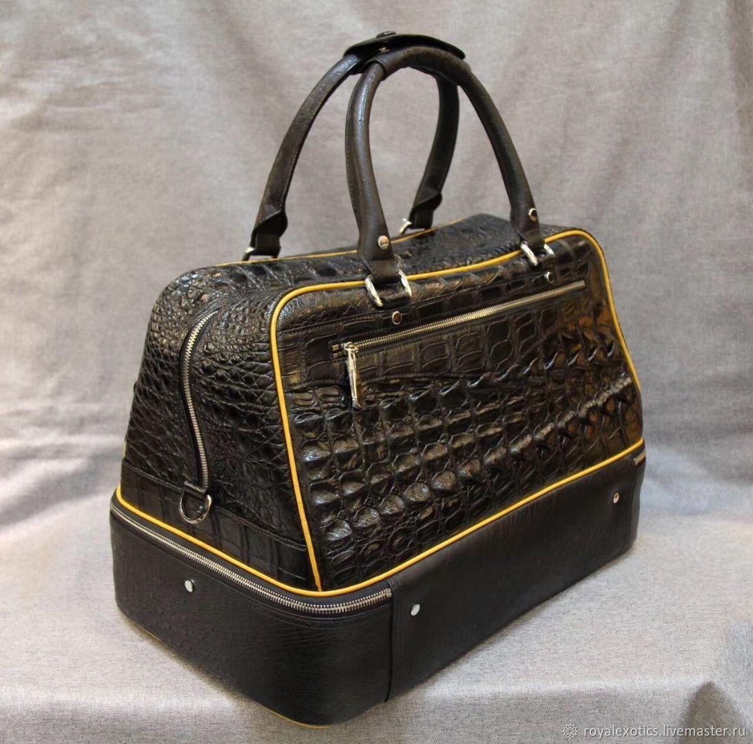 Дорожная/спортивная сумка из кожи  крокодила и кожи страуса, Спортивная сумка, Тосно,  Фото №1