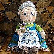 Куклы и игрушки handmade. Livemaster - original item Grandma with violets. Handmade.