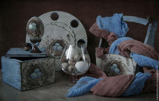 """Кухня ручной работы. Ярмарка Мастеров - ручная работа. Купить Пасхальный набор """" Голубая весна"""". Handmade. Голубой"""