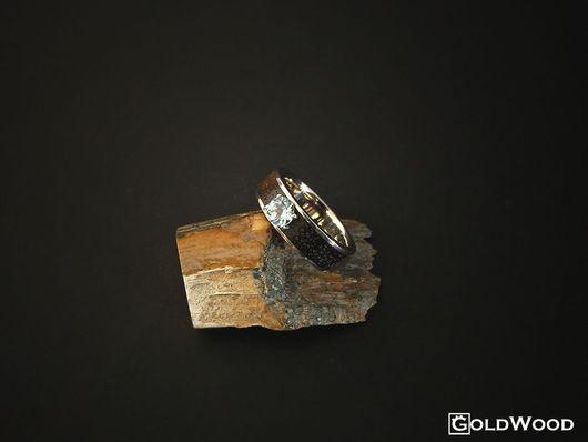 """Кольца ручной работы. Ярмарка Мастеров - ручная работа. Купить Кольцо """"Linewood"""" с топазом. Handmade. Голубой, кольцо купить, кольцо с"""