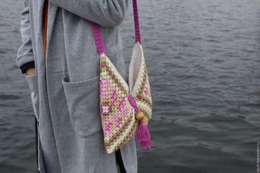 Женские сумки ручной работы. Ярмарка Мастеров - ручная работа. Купить Сумка ''ORHIDEYA''. Handmade. Сумка, аксессуары, вязаная сумка
