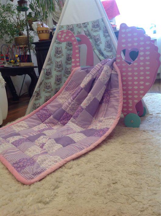 """Пледы и одеяла ручной работы. Ярмарка Мастеров - ручная работа. Купить Лоскутное одеяло """"лиловые фантазии"""". Handmade. Лоскутное шитье"""