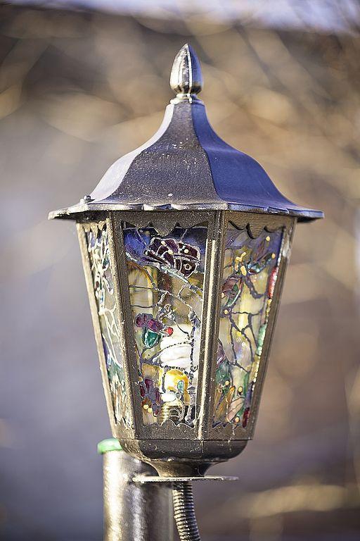 Освещение ручной работы. Ярмарка Мастеров - ручная работа. Купить Декоративный фонарь. Handmade. Фонарь, комбинированный, оригинальный подарок, стекло