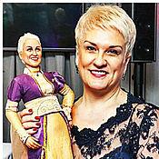 Куклы и игрушки ручной работы. Ярмарка Мастеров - ручная работа Портретная кукла. Мадам Лаванда. Handmade.