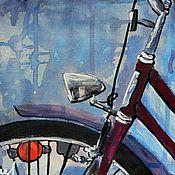 Картины и панно ручной работы. Ярмарка Мастеров - ручная работа Велосипед. Handmade.