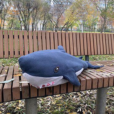 Куклы и игрушки ручной работы. Ярмарка Мастеров - ручная работа Мягкая игрушка акула. Handmade.