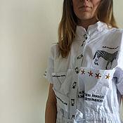 """Одежда ручной работы. Ярмарка Мастеров - ручная работа Кобинезон бохо шик """"Зебра"""". Handmade."""
