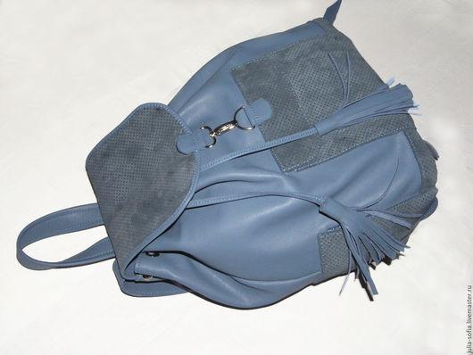 Рюкзаки ручной работы. Ярмарка Мастеров - ручная работа. Купить Кожаный Рюкзак бирюзовый для девушки. Handmade. Тёмно-бирюзовый, рюкзачок