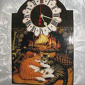 """Для дома и интерьера ручной работы. Ярмарка Мастеров - ручная работа Часы """"Тихий час"""". Handmade."""