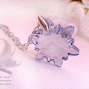 Украшения handmade. Livemaster - original item Pale blue Swarovski pendant