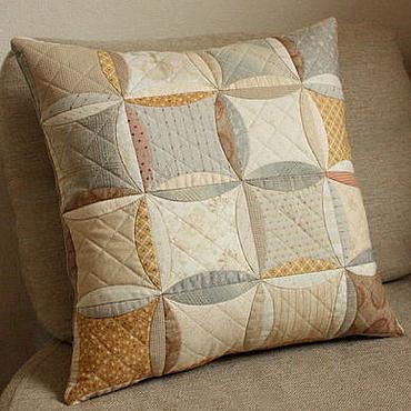 Для дома и интерьера handmade. Livemaster - original item Decorative cushion made of cotton and natural linen. Handmade.
