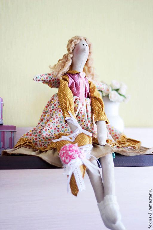 Куклы Тильды ручной работы. Ярмарка Мастеров - ручная работа. Купить Фея Домашнего Уюта. Handmade. Горчичный, бохо, шерсть