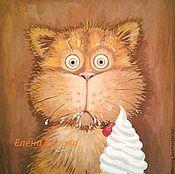 """Картина """"Сметану?! Нее, не видел!."""") прикольная, с котом, рыжий"""
