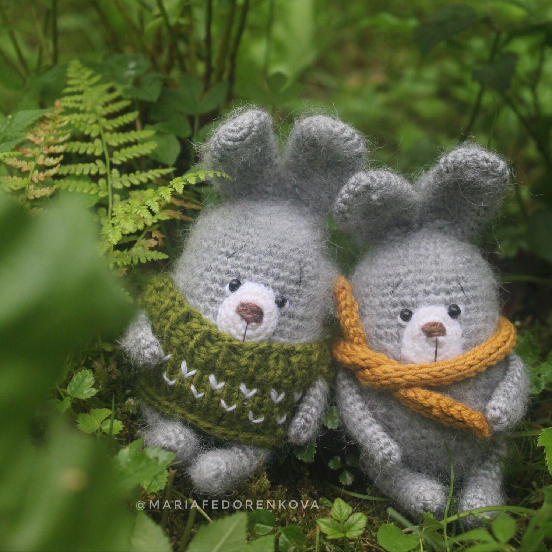 Игрушка заяц зайчик вязаный крючком милый подарок зайка, Тильда Зверята, Вырица,  Фото №1