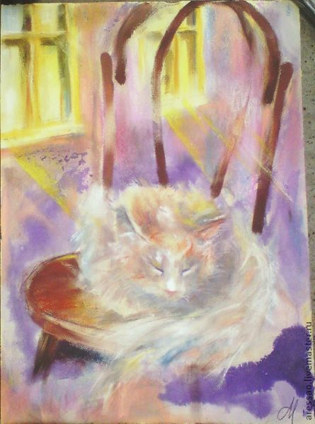 """Животные ручной работы. Ярмарка Мастеров - ручная работа. Купить Картина """"Венский стул"""". Handmade. Фиолетовый, подарок, подарок девушке"""