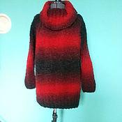 Одежда ручной работы. Ярмарка Мастеров - ручная работа Свитер красно - черный. Handmade.