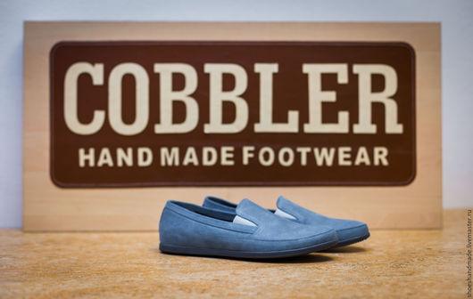 Обувь ручной работы. Ярмарка Мастеров - ручная работа. Купить Мокасины. Handmade. Синий, мокасины мужские, мокасины купить