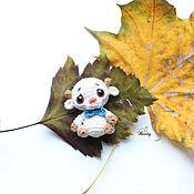 Куклы и игрушки ручной работы. Ярмарка Мастеров - ручная работа Чуня вязаная игрушка амигуруми 3 см. Handmade.