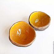 ручной работы. Ярмарка Мастеров - ручная работа Янтарно-оранжевые пиалы-вазочки. Handmade.