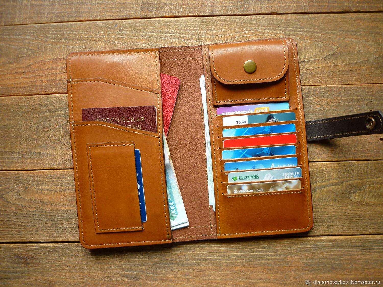 Большой бумажник из кожи. BIG WALLET, Кошельки, Челябинск, Фото №1