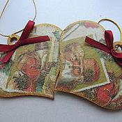 Подарки к праздникам ручной работы. Ярмарка Мастеров - ручная работа Подвески- Сердечки. Handmade.