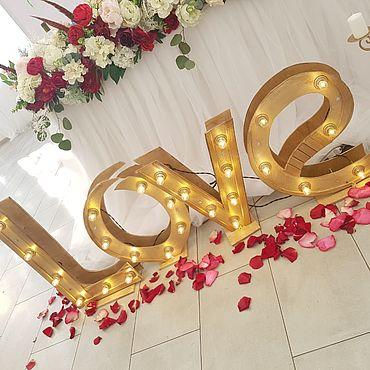 Свадебный салон ручной работы. Ярмарка Мастеров - ручная работа Буквы LOVE с лампочками. Handmade.