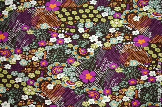 Шитье ручной работы. Ярмарка Мастеров - ручная работа. Купить Трикотаж 03-003-2656. Handmade. Разноцветный, блузочная ткань