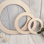 Материалы для творчества handmade. Livemaster - original item Blank circle-the basis for a decorative wreath. Handmade.