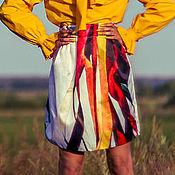 Одежда ручной работы. Ярмарка Мастеров - ручная работа Небо Тибета - юбка с авторским принтом. Handmade.