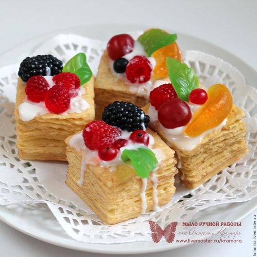 """Мыло ручной работы. Ярмарка Мастеров - ручная работа. Купить Мыло """"Торт Наполеон"""". Handmade. Мыло торт, торт"""