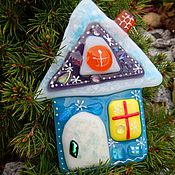 Подарки к праздникам handmade. Livemaster - original item fusing. Winter house-Christmas toy! glass.. Handmade.