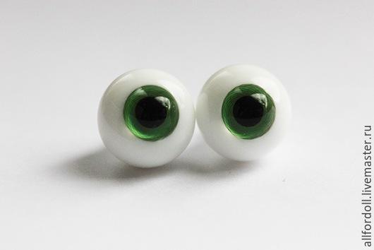 Куклы и игрушки ручной работы. Ярмарка Мастеров - ручная работа. Купить Глаза для кукол стеклянные НВ-08 8 мм, 10 мм, 12 мм (сфера). Handmade.