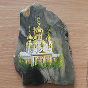 Сувениры и подарки handmade. Livemaster - original item Painting on stone Peterhof Souvenir Magnet from stone painting. Handmade.