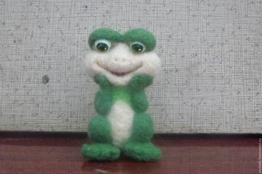 Игрушки животные, ручной работы. Ярмарка Мастеров - ручная работа. Купить игрушка Лягушонок Микки. Handmade. Зеленый, лягушка игрушка