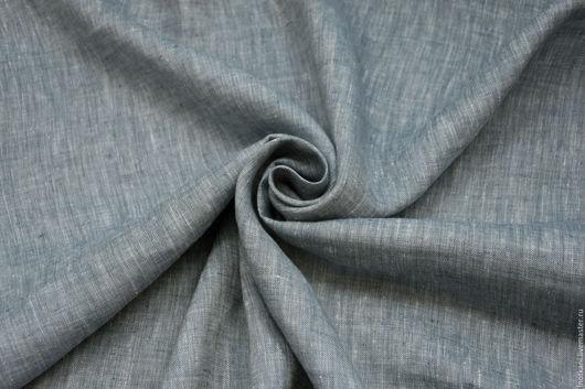 Шитье ручной работы. Ярмарка Мастеров - ручная работа. Купить Лён 100% меланжевый серый арт.01016. Handmade.