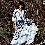 Платье макси в стиле БОХО (269)