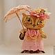 Игрушки животные, ручной работы. Ярмарка Мастеров - ручная работа. Купить Совушка с зонтиком. Handmade. Розовый, подарок, мудрая сова