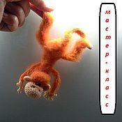 Материалы для творчества ручной работы. Ярмарка Мастеров - ручная работа Мастер-класс вязаная обезьянка - магнит на холодильник (описание вязан. Handmade.