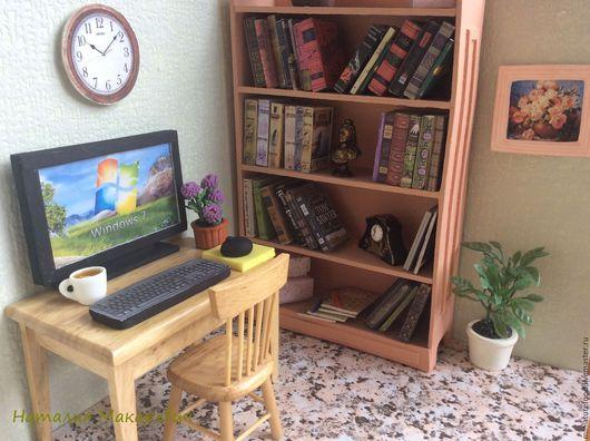Фото кукольной комнаты. Фото кабинет для кукол в масштабе 1:6