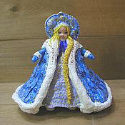 Куклы и игрушки handmade. Livemaster - original item Snow maiden-a toy made of cotton wool. Handmade.