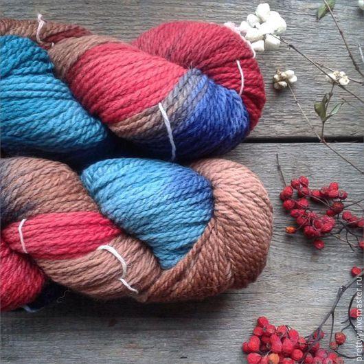 Вязание ручной работы. Ярмарка Мастеров - ручная работа. Купить Araucania Lauca 'A'. Handmade. Разноцветный, пряжа, верблюжья шерсть