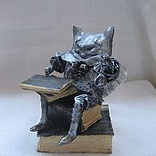 """Куклы и игрушки ручной работы. Ярмарка Мастеров - ручная работа Кукла-сувенир """"Кот-трудоголик"""". Handmade."""