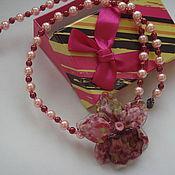 Украшения ручной работы. Ярмарка Мастеров - ручная работа Колье Розовая  орхидея. Handmade.