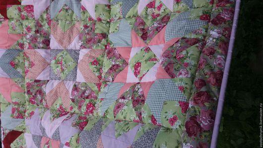 Текстиль, ковры ручной работы. Ярмарка Мастеров - ручная работа. Купить Детское одеяло. Handmade. Зеленый, лоскутное покрывало