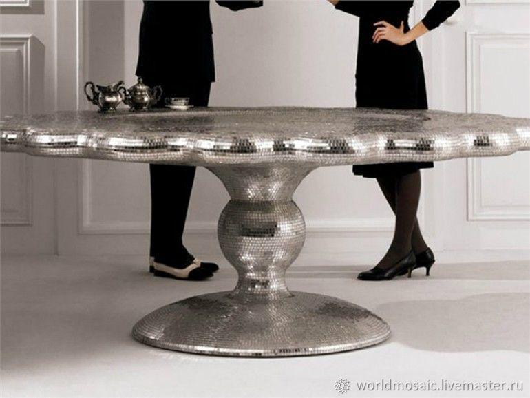 Table round mirror mosaic, Tables, Krasnodar,  Фото №1