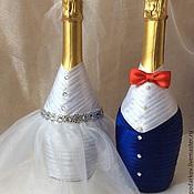 """Бутылки ручной работы. Ярмарка Мастеров - ручная работа Офомление Свадебных бутылок  """" Любовь"""". Handmade."""