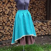 Одежда ручной работы. Ярмарка Мастеров - ручная работа №171.2 Длинная льняная юбка бохо. Handmade.