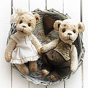 """Куклы и игрушки ручной работы. Ярмарка Мастеров - ручная работа Мишки тедди """"Мелодия сердца"""" Подарок на свадьбу,годовщину,  влюбленным. Handmade."""