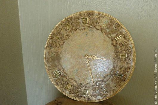 Часы для дома ручной работы. Ярмарка Мастеров - ручная работа. Купить Часы из коллекции Золото с бирюзой. Handmade. Часы, поталь