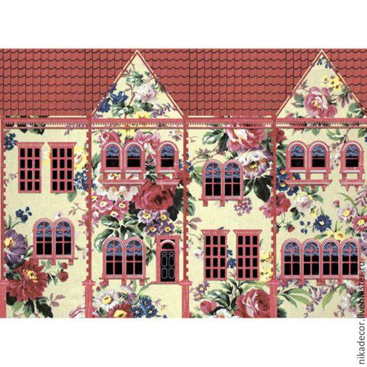 Декупаж и роспись ручной работы. Ярмарка Мастеров - ручная работа. Купить Цветочный домик (CP08883) - рисовая бумага, А3. Handmade.